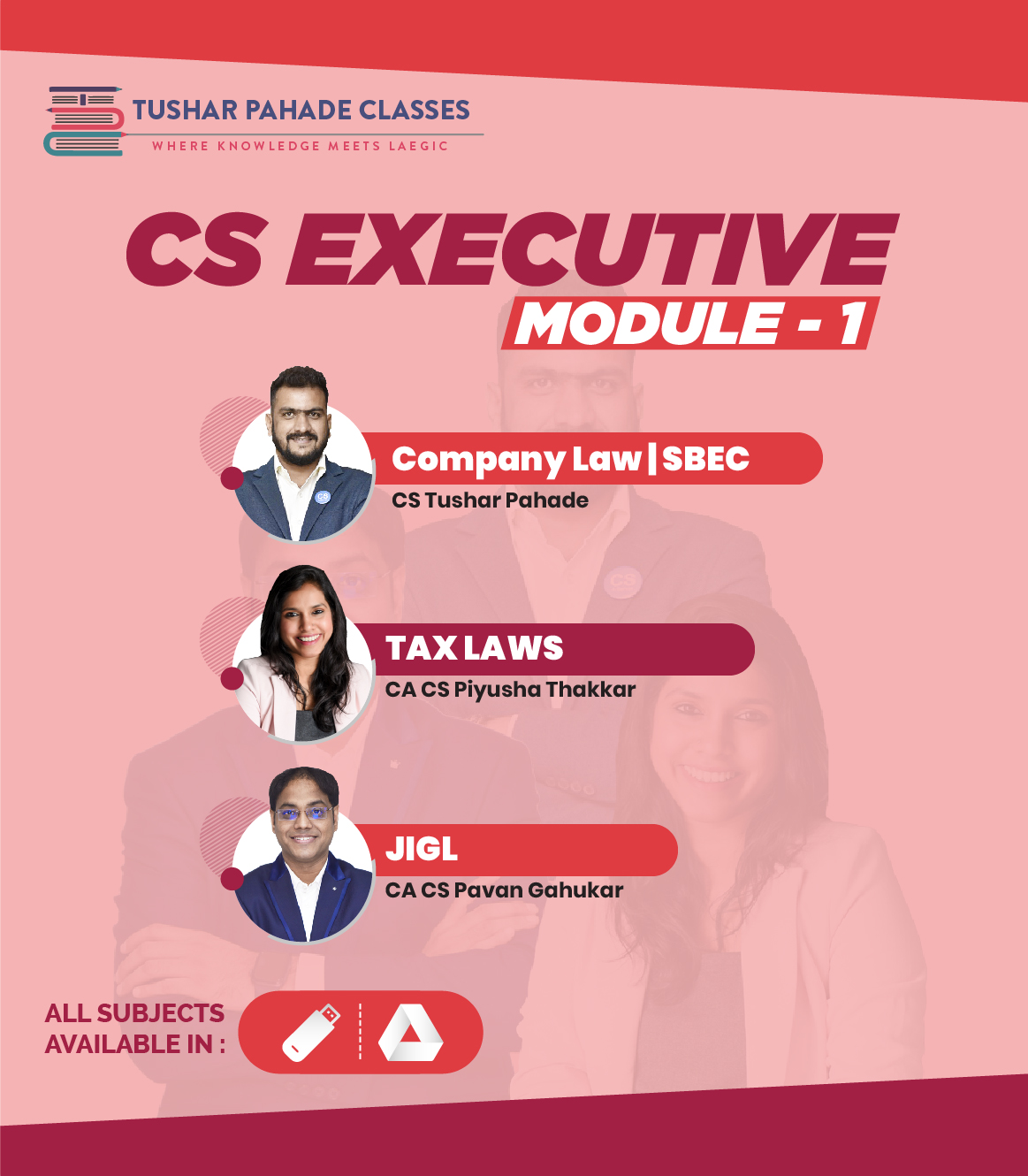 CS Executive Module I pendrive classes and study msterial