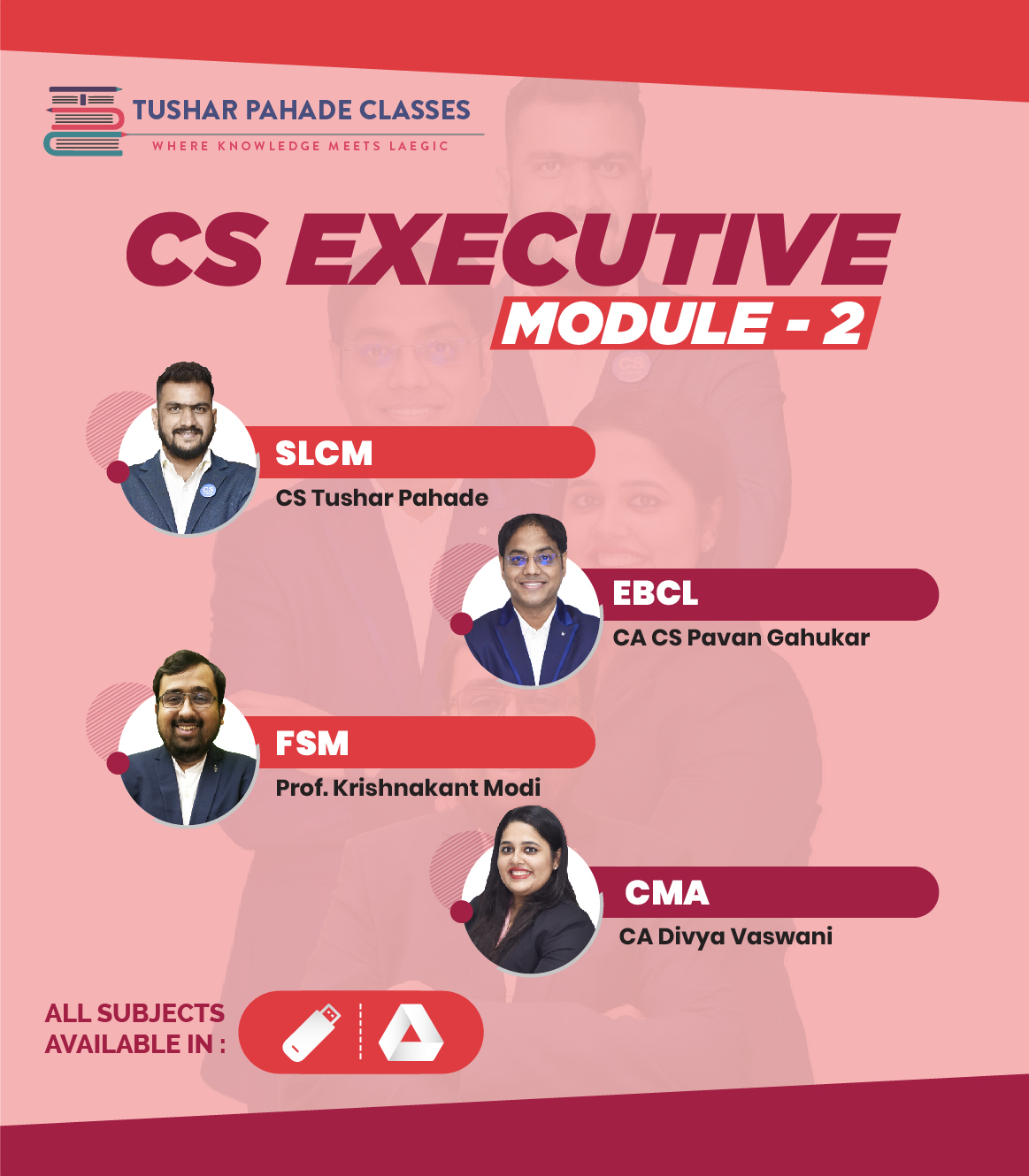 CS Executive Module 2 subjects pendrive classes and study msterial